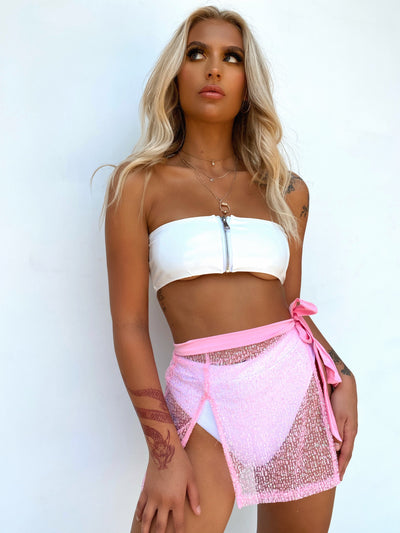 LOLA CROP WHITE PRE ORDER - Generation Outcast Clothing