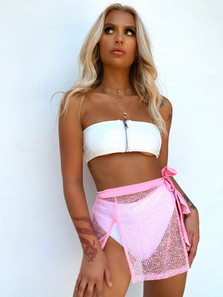 LOLA CROP WHITE - Generation Outcast Clothing