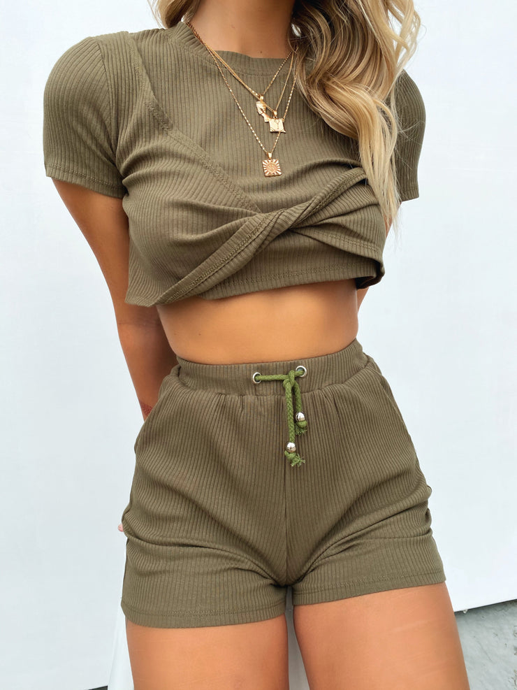 GEORGIA TWO PIECE SET KHAKI