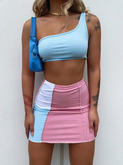 MOVEMENT MINI SKIRT PASTEL
