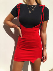 MAKE IT BACK DRESS RED - Generation Outcast Clothing