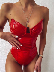 POTENTIAL BODYSUIT RED