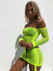 BRAVO MESH DRESS NEON - Generation Outcast Clothing
