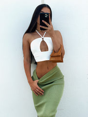 HABIT CROP TOP WHITE