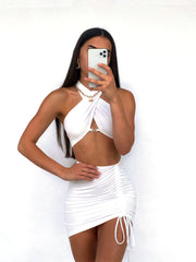 COLBIE TWO PIECE SET WHITE