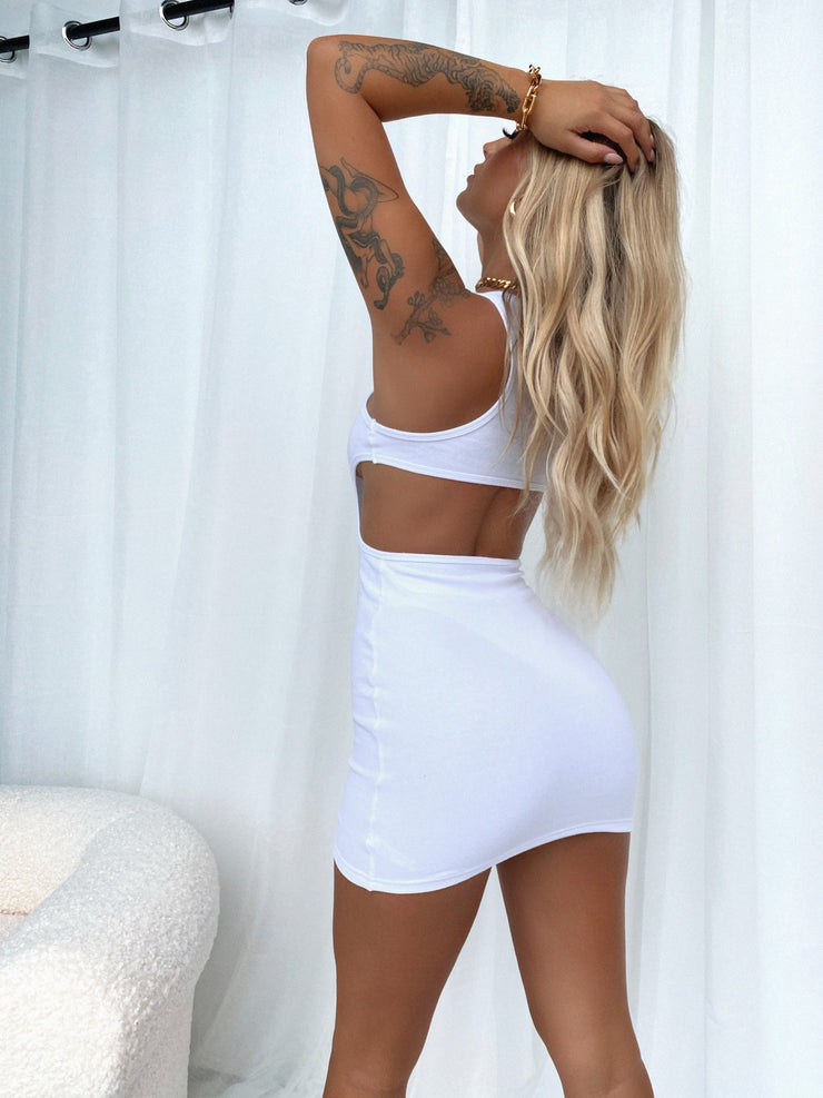 RADIO MINI DRESS WHITE