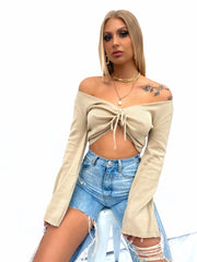 KARMA KNIT TOP TAN