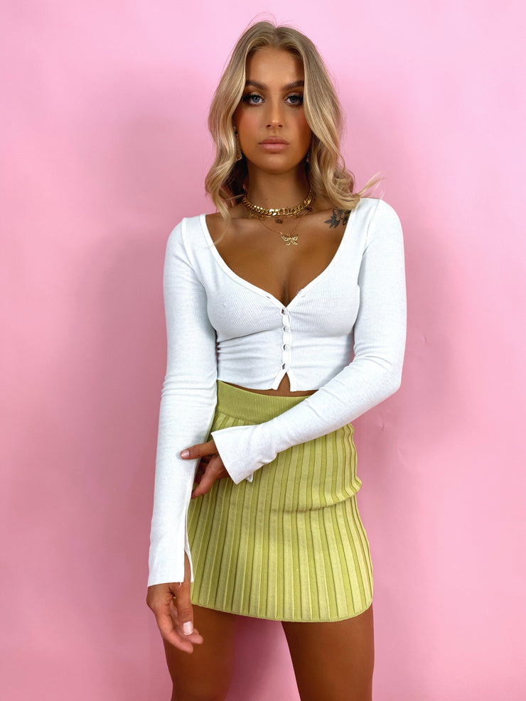 MAVEN CROP TOP WHITE