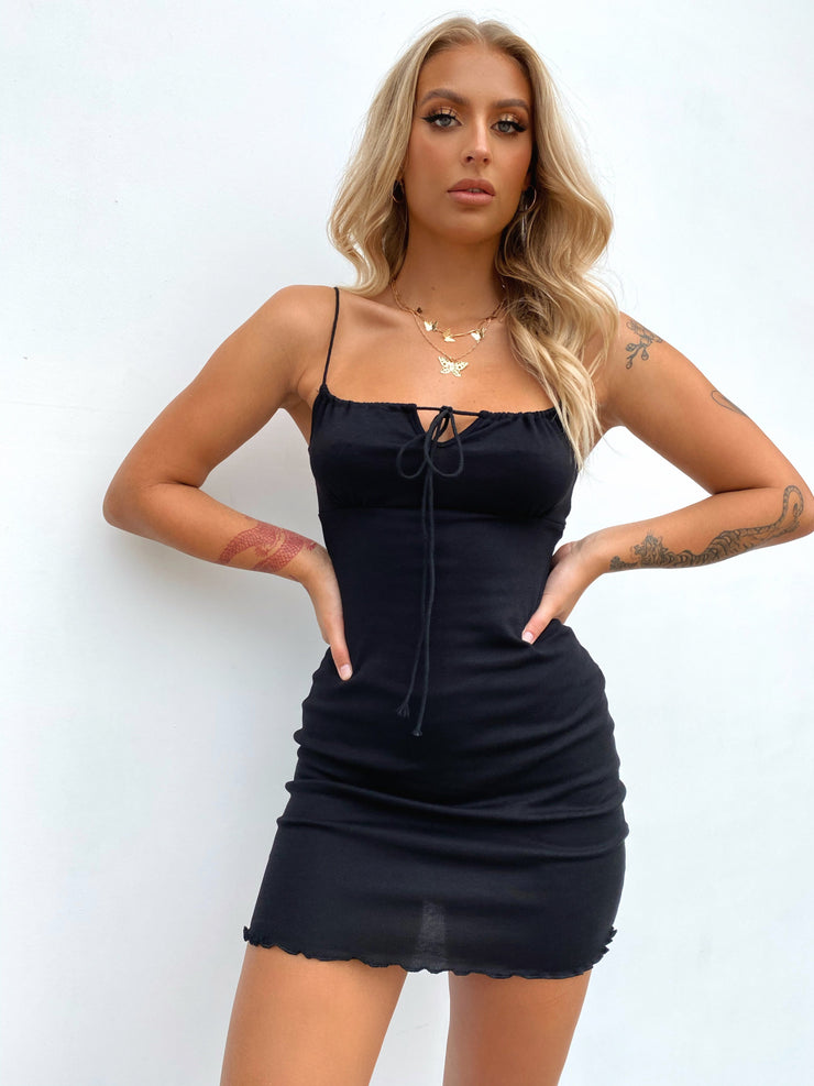 VALLEY MINI DRESS BLACK