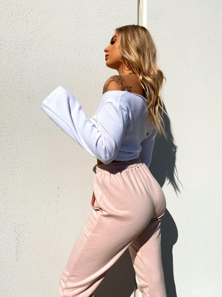 ADDIE TRACK PANTS BLUSH