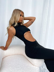 MAKE A MOVE MAXI DRESS BLACK