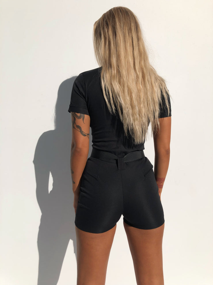 MANSION ROMPER BLACK - Generation Outcast Clothing