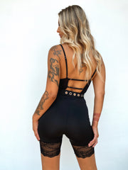 LUNAR ROMPER BLACK - Generation Outcast Clothing