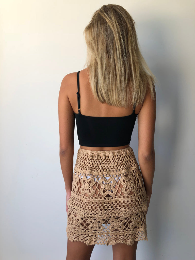 COASTLINE SKIRT TAN