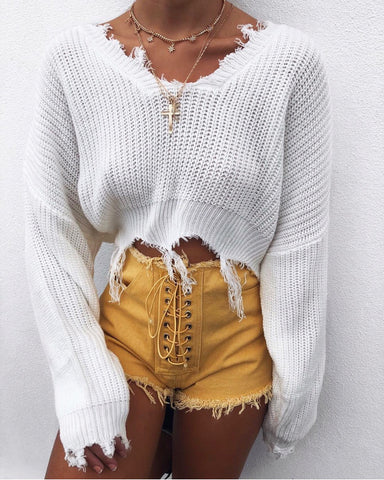 JAYLENE CROP WHITE