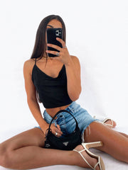 RAYNER CROP TOP BLACK