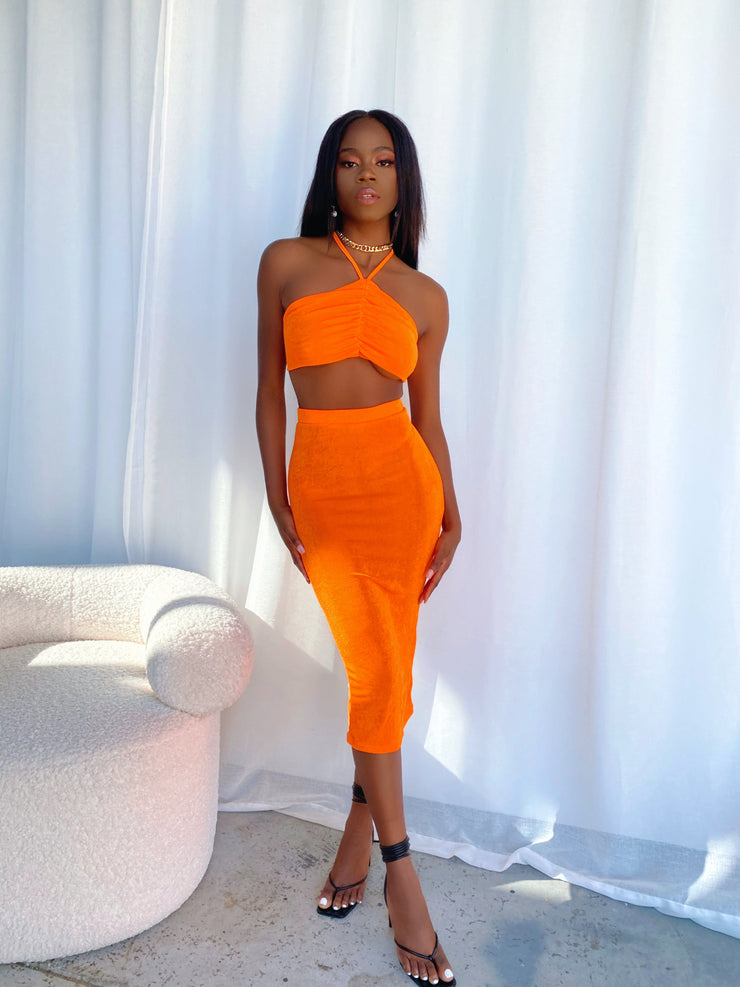 CHANEL TWO PIECE SET ORANGE