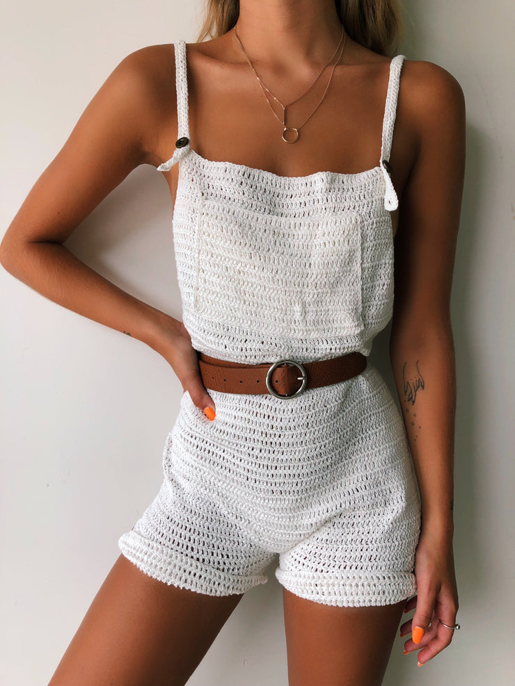 ALEXA ROMPER WHITE - Generation Outcast Clothing