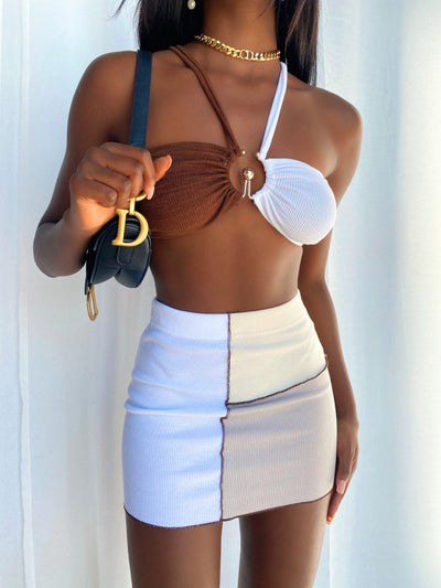 TILLI CROP TOP CHOCOLATE