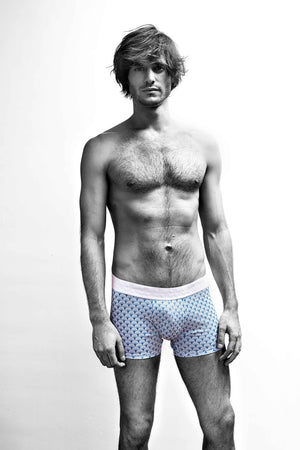 MR.U DANDY BÓXER-BRIEF ESTAMPADO AZUL - MRU.MX