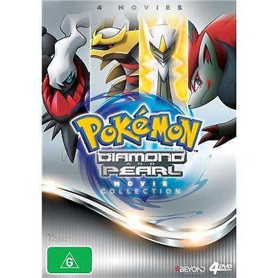 Pokemon - Diamond & Pearl Movie Collection (DVD, 2014, 4-Disc Set)