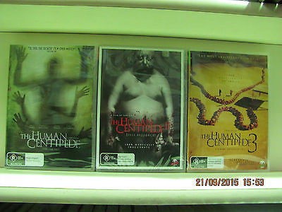 HUMAN CENTIPEDE MOVIES 1 TO 3 DVD NEW AND SEALED