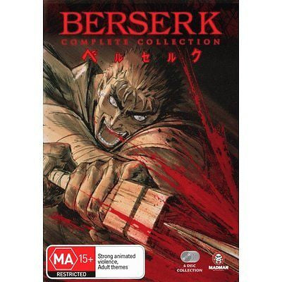Berserk Collection (DVD, 2004, 6-Disc Set) LIKE NEW REGION 4
