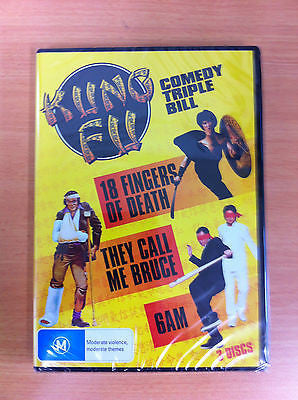 KUNG FU COMEDY TRIPLE BILL 3 DVD SET NEW AND SEALED