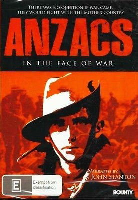 Anzacs In The Face Of War * Narrated By John Stanton *  DVD REGION 4