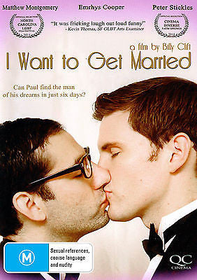 I Want To Get Married (DVD, 2012) * Rom Com * Queer Cinema *