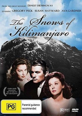 "Snows of Kilimanjaro DVD "" Bounty Classics "" Gregory Peck, Susan Hayward """