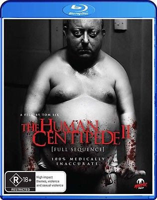 The Human Centipede 2 (Blu-ray, 2012) *Monster Pictures* *Bonus Features!*
