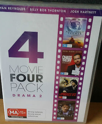 4 Movie Four Pack - Drama: August/A Perfect Fit/Chaos Theory/The Astronaut Farme