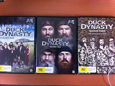 Duck Dynasty Seasons 1 + 2 + 3  REGION 4 LIKE NEW ( 6 Discs )