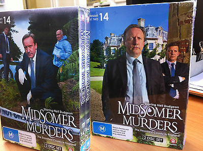 Midsomer Murders : Season 14 : Parts 1 &  2 :DVD ( 4 Discs ) Brand New Region 4