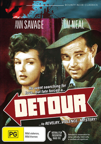 DETOUR ( DVD ) * Ann Savage , Tom Neal * BOUNTY NOIR CLASSICS NEW REGION 4