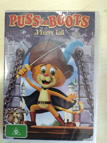 Puss in Boots : A Furry Tail, DVD ( Brand New , Region ALL )