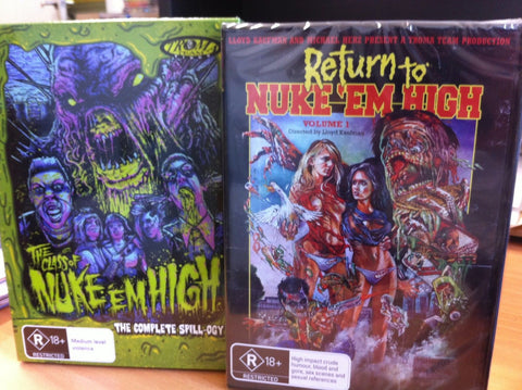 Class of Nuke 'em High: The Complete Spill-Ogy + Return To  ( DVD ) Region 4
