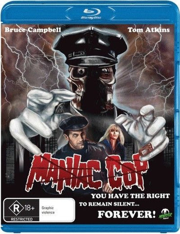 Maniac Cop  (Blu-ray, 1988) * Bruce Campbell * Larry Cohen * Monster Pictures*