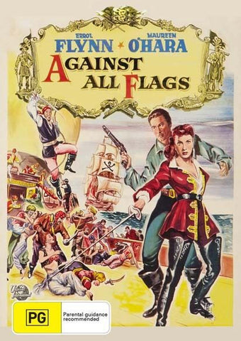 AGAINST ALL FLAGS - ERROL FLYNN -  NEW & SEALED  REGION 4 DVD FREE LOCAL POST