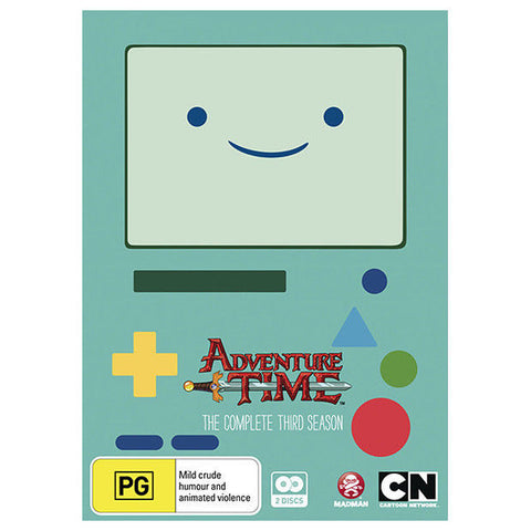 Adventure Time : Season 3 (DVD, 2014, 2-Disc Set)