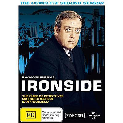 Ironside : Season 2 (DVD, 2010, 7-Disc Set) BRAND NEW REGION 4