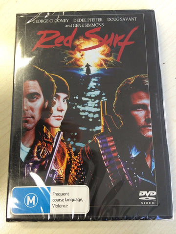 RED SURF DVD  (1989 ) *George Clooney , Dedee Pfeifer * BRAND NEW REGION 4