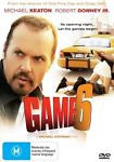 Game 6 (DVD, 2005) * Michael Keaton & Robert Downey Jr * Brand New Region 4