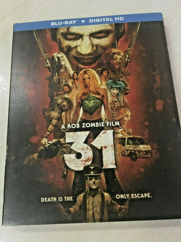 31  (Blu-ray+Digital HD, 2016) w/ Slipcover  Rob Zombie film REGION A NEW