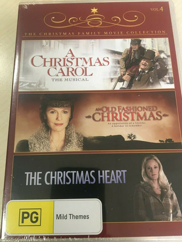 A Christmas Carol The Musical+Old Fashioned Christmas+Christmas Heart DVD NEW R4