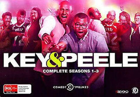 Key & Peele: Complete Seasons 1-3 ( DVD , 6 Disc Box Set ) LIKE NEW REGION 4