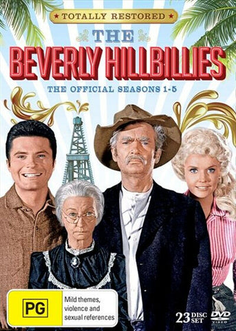 The Beverly Hillbillies: Seasons 1 - 5 ( DVD,24 DISC BOX SET ) LIKE NEW REGION 4