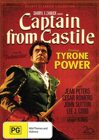 Captain From Castile - Tyrone Power, Jean Peters, Cesar Romero- DVD