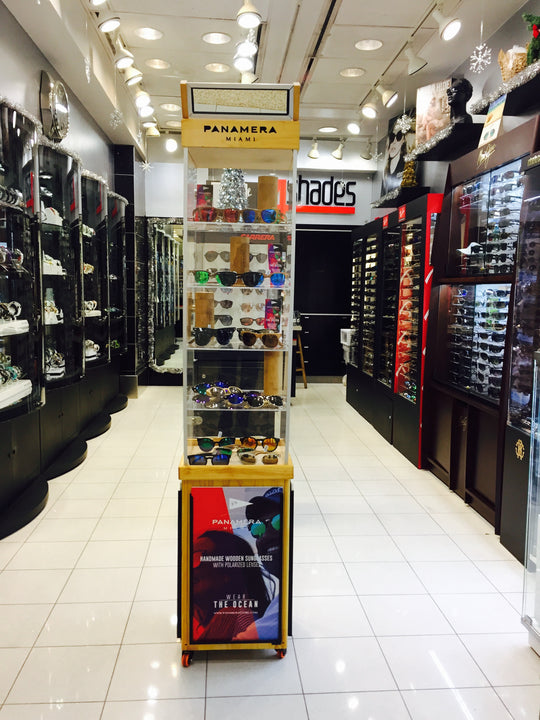 Panamera Sunglasses in the Miami International Airport!